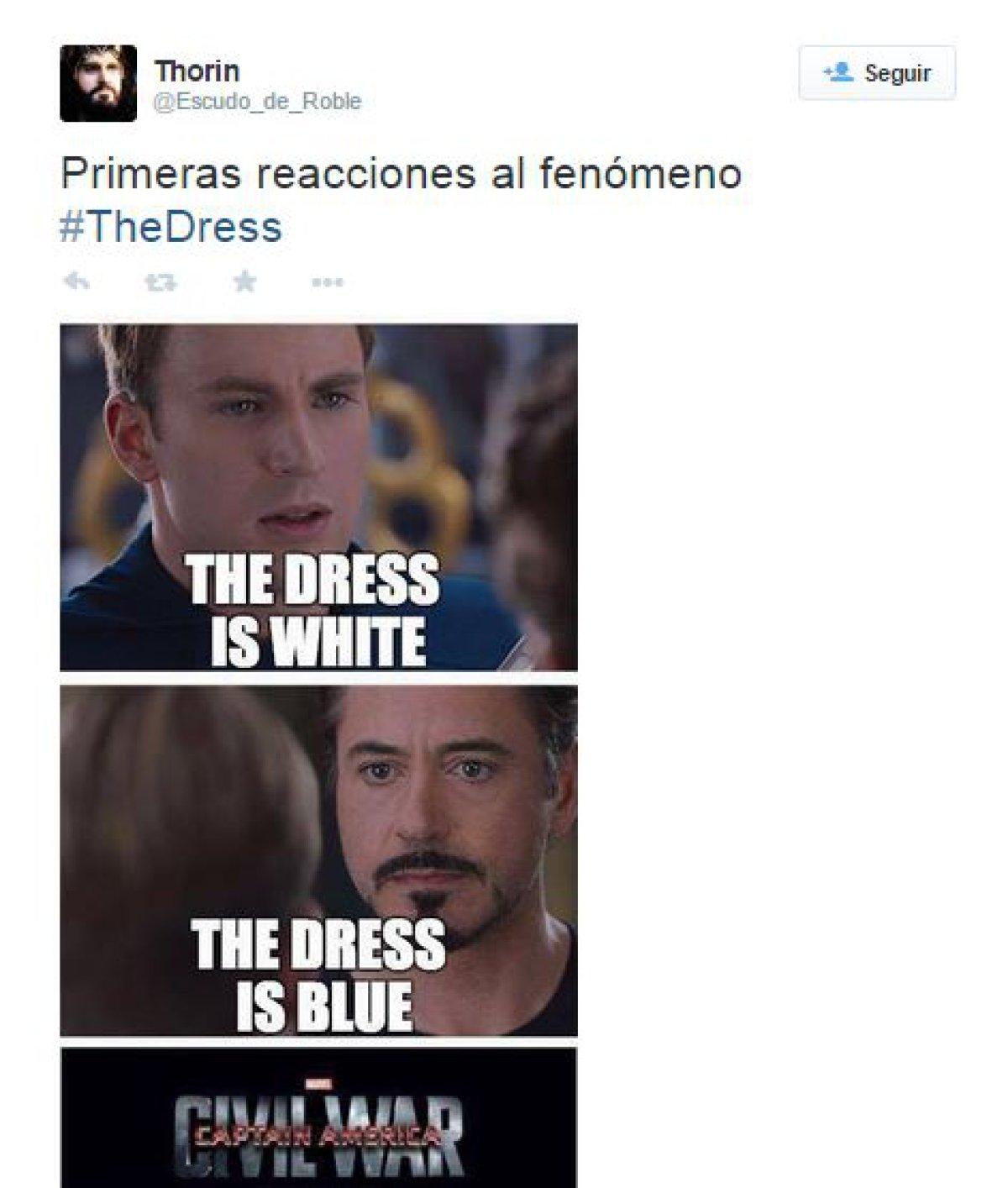 Tumblr: Los mejores memes del vestido ¿Azul y negro o ... Robert Downey
