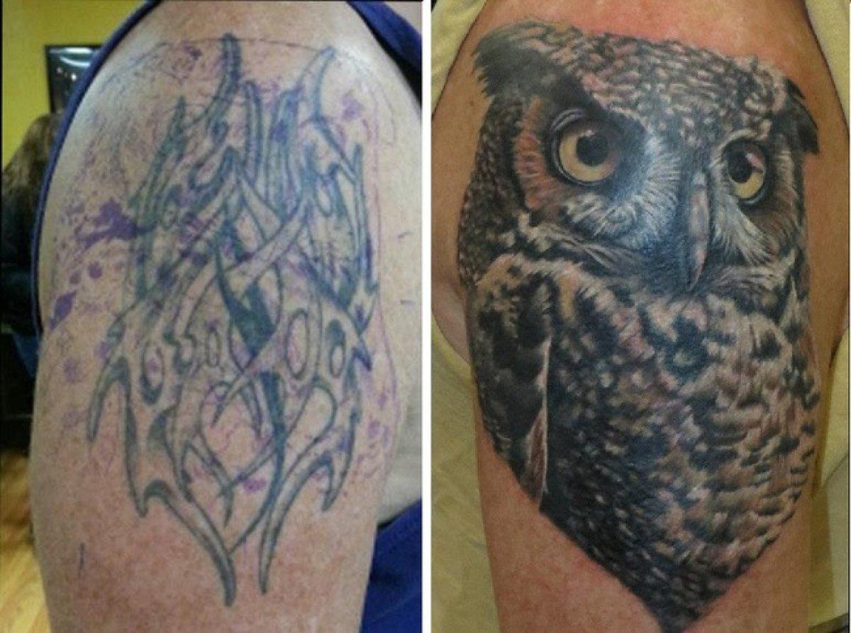 Как забить старую татуировку фото