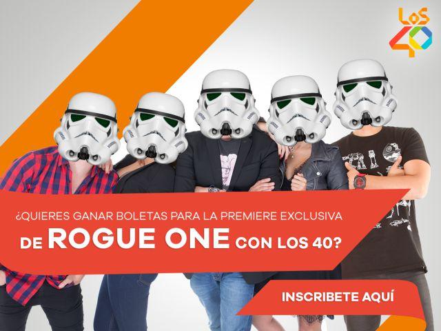 El Morning 40 te lleva a la premiere de 'Rogue One: Star Wars'