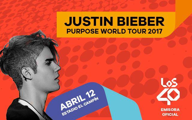 Los 40 es la emisora oficial del concierto de Justin Bieber