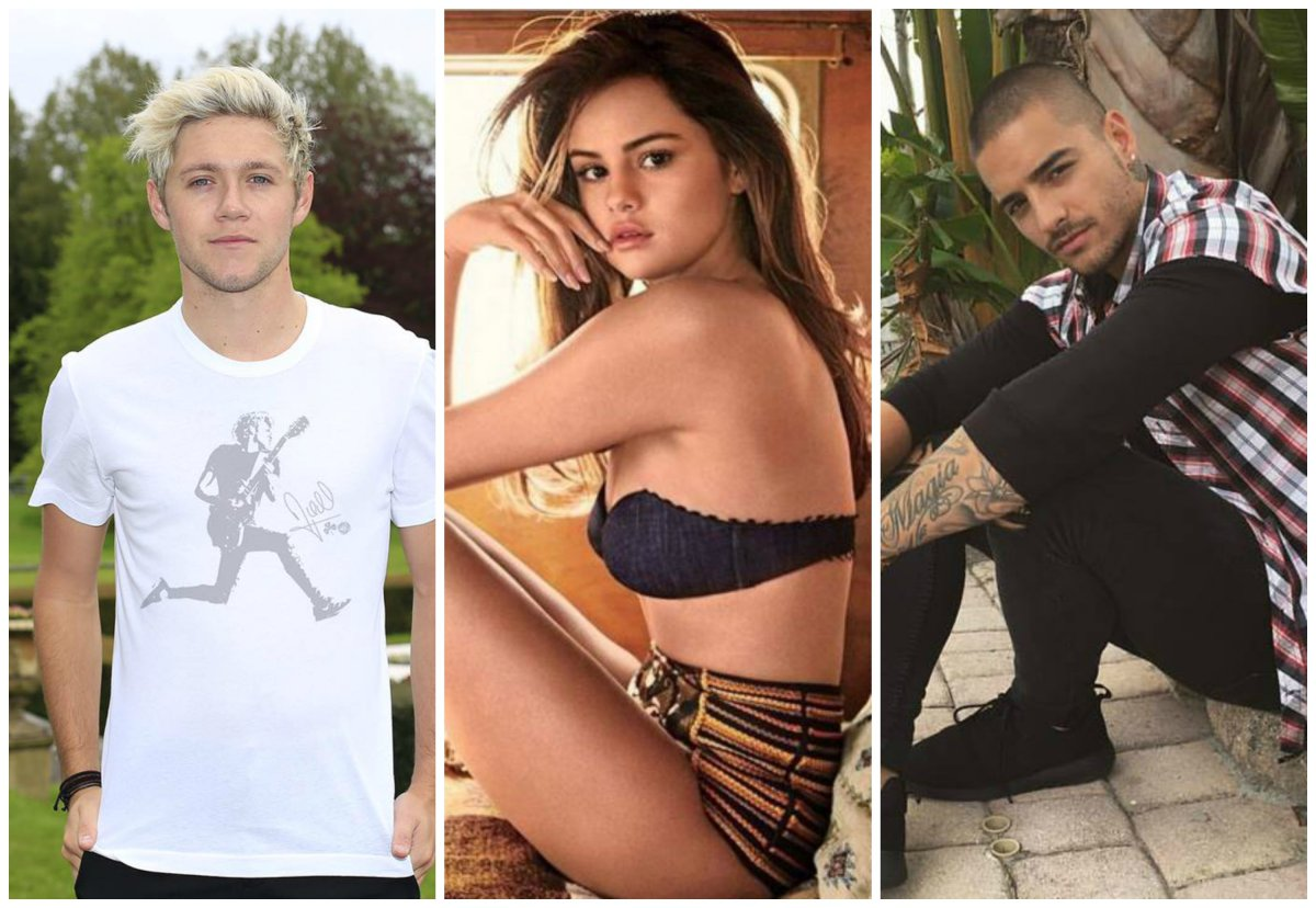 Ex integrante de One Direction está celoso por el coqueteo de Maluma con Selena Gómez