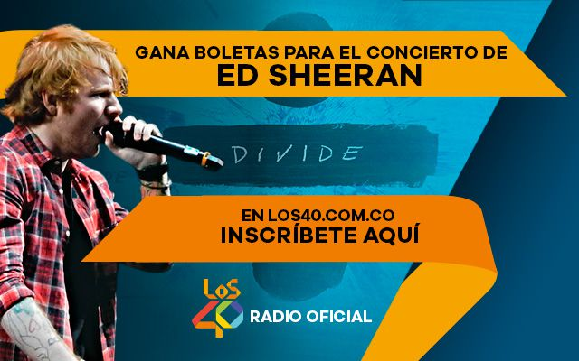 Inscríbete y gana boletas para el concierto de Ed Sheeran