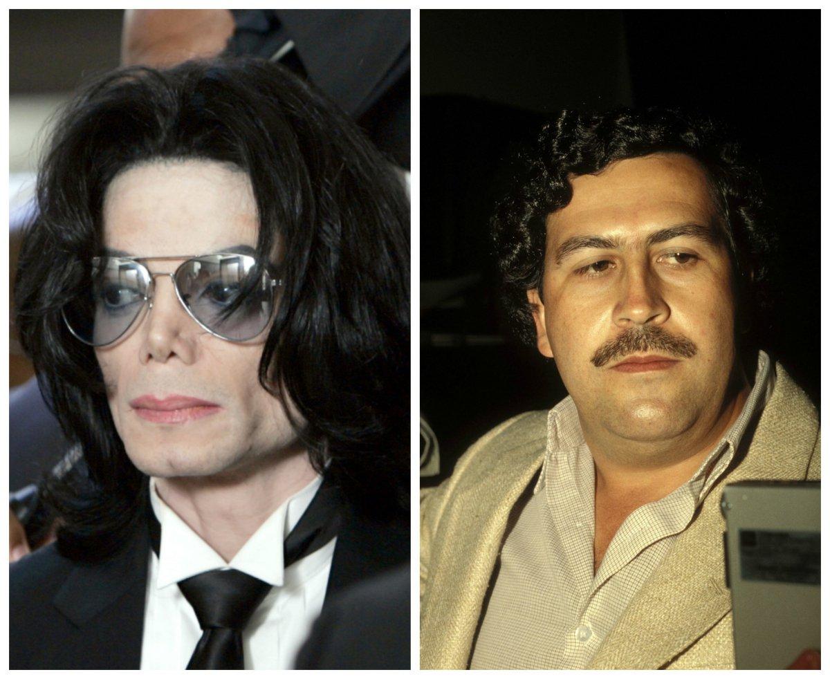 Revelan detalles de la extraña relación entre Pablo Escobar y Michael Jackson
