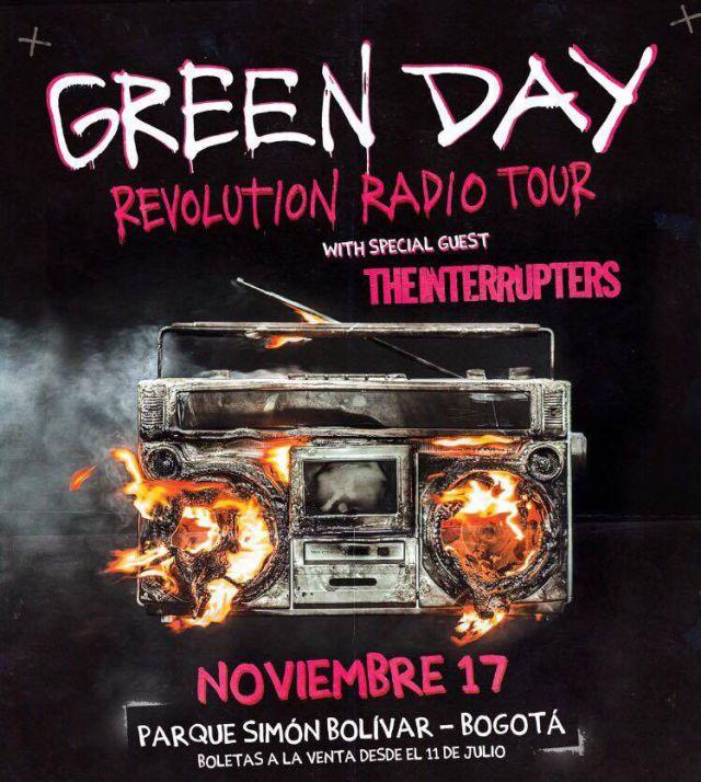 Green Day llega a Bogotá y tú vivirás su concierto con LOS40