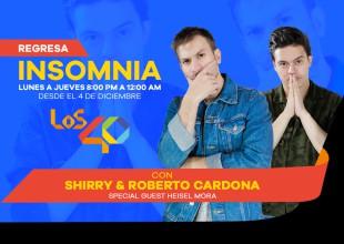 Shirry y Roberto Cardona llegarán a LOS40 para que termines tu día con una sonrisa, no puedes perderte el regreso de el programa que no te dejaba dormir.