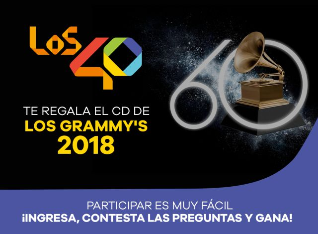 Participa por el álbum de los nominados a los Grammys 2018 con LOS40