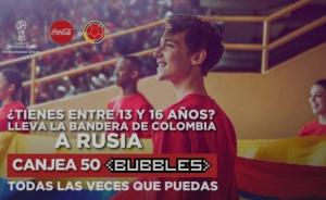 Entra a la cancha con la bandera de Colombia en Rusia