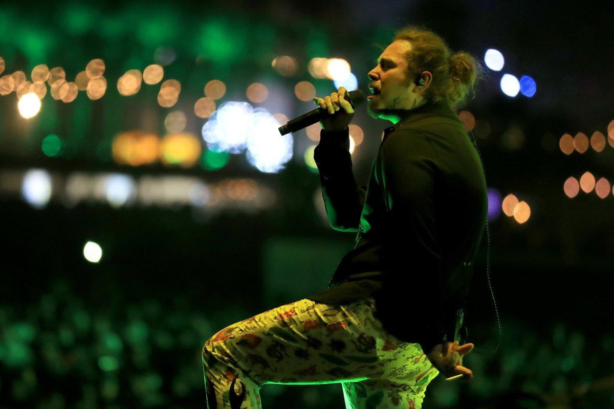 Post Malone una joven promesa del rap en Coachella 2018