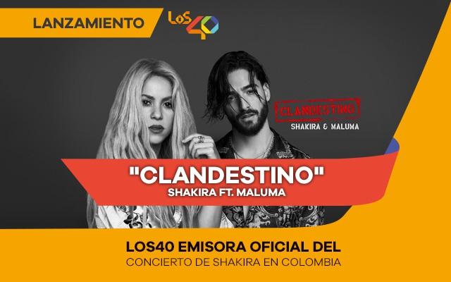 Shakira estrena 'Clandestino', una nueva colaboración con Maluma.