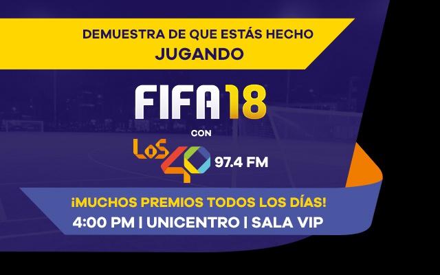 Acepta el reto y juega FIFA18 con LOS40 97.4 FM