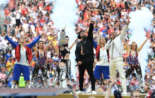 El gesto de Nicky Jam con J Balvin en su presentación en la final del mundial