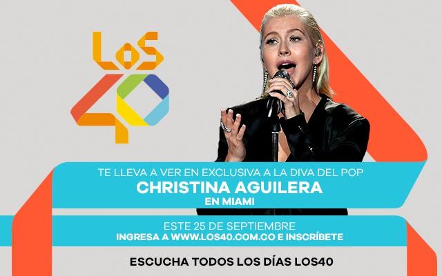 Viaja con LOS40 a ver en exclusiva a Christina Aguilera
