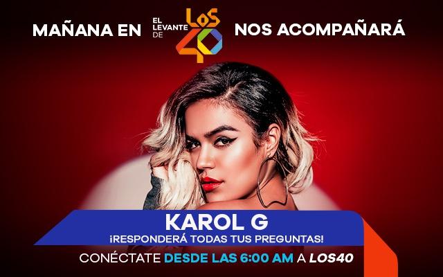 Karol G nos acompañará mañana en El Levante de LOS40