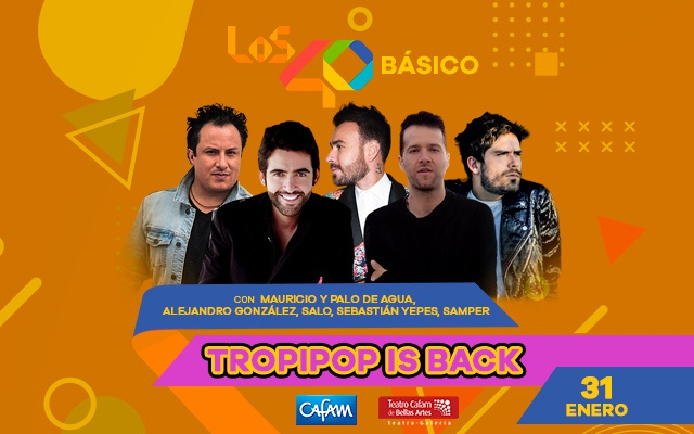 LOS40 Básico 'Tropipop Is Back' con la música que marcó una generación