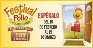 ARRANCA EL FESTIVAL DEL POLLO COLOMBIANO EN 18 CIUDADES DE COLOMBIA