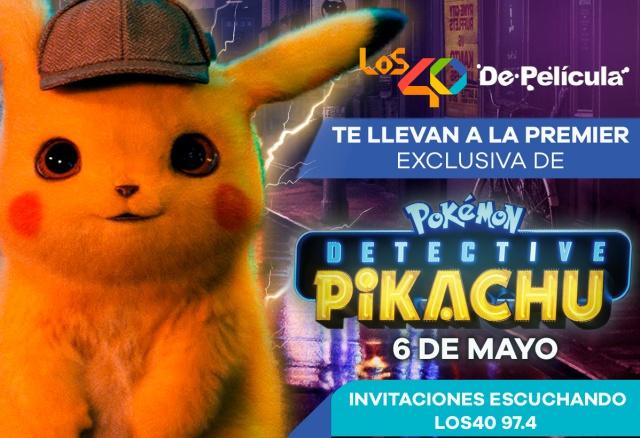 De Película 40 te lleva a la premier de Pokémon: Detective Pikachu