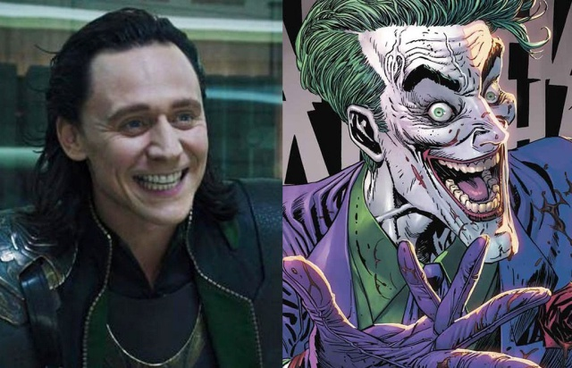 Revelan el look de Tom Hiddleston (Loki) si fuera el Joker en The Batman